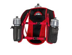 """SLS3 Running Hydration Vest, Backpack, 3 Bottles, Adjustable Strap System - Red. ✅ The Lightweight Hydration Vest and Backpack is perfect for trail running, marathon running, hiking and cycling with 2 easy access front zippered mesh pockets to keep your keys, iPhone and ID within reach. ✅ Lightweight design keeps you cool -- you might even forget you're wearing it!. ✅ Backpack pocket (4"""" x 5.5"""") gives you space for a extra nutrition, gels or a small running vest. ✅ Easy access to the 2…"""
