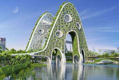 Futuristic Ecological City Blueprints : vincent callebaut