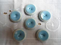 Jolis boutons vintage bleu ciel : Boutons par mylittlee-shop