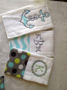3/25.00 set of custom burp cloths