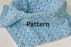 Baby Blanket Crocheting Pattern in Shell Stitch Baby by PropShop, $3.00