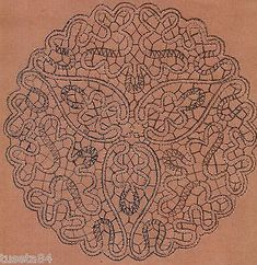 5746 A * - Lace Cantù-Map Embroidery to Tatting-Ancient USED, SEE PHOTOS