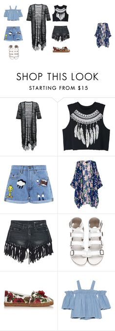 """Aksinia and Gayka"" by bananabecool on Polyvore featuring мода, Guild Prime, WithChic, Paul & Joe Sister, Sans Souci, Dolce&Gabbana и SJYP"