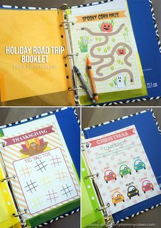 Printable Holiday Road Trip Booklet to keep the kids entertained for long drives! #shop #holidayroadtrip #freeprintabls