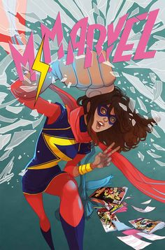 Ms. Marvel #13, cover by Marguerite Sauvage