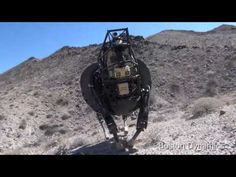 Legged Robot Testing in Desert (+playlist)  I want them to put a saddle on this thing!