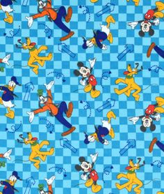 Springs-Creative Disney Mickey & Friends Go Toss Flannel Fabric
