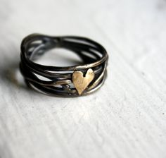 Nested heart ring.