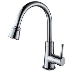 Kraus One Handle Single Hole High Neck Kitchen Faucet with Water and Temperature Control | Wayfair
