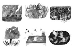 Little Bits of Sky - Katie Harnett Illustration Art And Illustration, Black And White Illustration, Sketchbook Inspiration, Art Sketchbook, Book Projects, Beautiful Drawings, Art Activities, Easy Drawings, Art Inspo