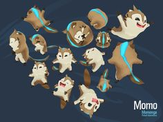 Momo ingame 3D model - #MomongaPinballAdventures #CharacterDesign #Gamedesign…