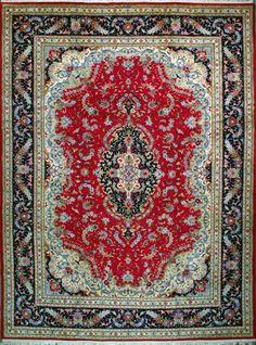 "Buy Tabriz Persian Rug 9' 6"" x 12' 10"", Authentic Tabriz Handmade Rug"