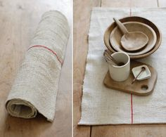 .wooden bowl + hemp