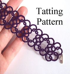 PDF beginner tatting pattern of the & bracelet.This listing is for a digital .pdf file (Portable Document Format) of my & bracelet original shuttle tatting pattern. Tatting Armband, Tatting Bracelet, Tatting Jewelry, Tatting Lace, Crochet Jewellery, Shuttle Tatting Patterns, Needle Tatting Patterns, Crochet Patterns, Easy Patterns