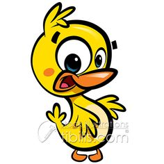 Cartoon cute baby duck. New Royalty Free Illustration at http://tibilis.com/stock