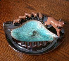Vintage Brinns Boxers Ashtray, Boxer Dog Ashtray, Collectible Ashtray, Ceramic Ashtray by EmptyNestVintage on Etsy
