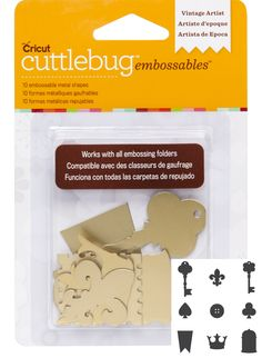 Embellish your cards, layouts, and home decor with this beautiful gold-colored metal embellishments. Enjoy a great deal when you shop at CraftDirect! #Cricut #VintageArtist #Gold #Embossable #Cuttlebug #Cricut2002192