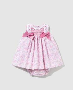Vestido de bebé niña Dulces con smock