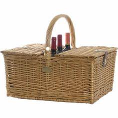 Triple Crown Picnic Wine Basket for 4 | Picnic-Basket.com