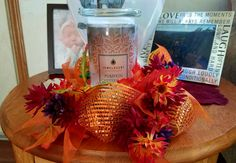 I love my fall decoration I made and my Jewelscent candle fits perfectly!