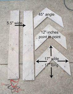 DIY repurposed wood arrows