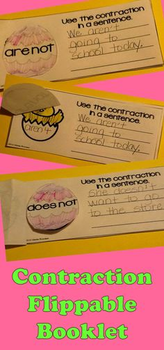 Students create this cute chick interactive booklet to help review contractions. Your students will love the Easter chick/egg theme as they review contractions. $