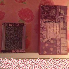 Cajas de cartón decoradas con papel decopatch y washi tape