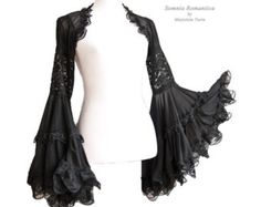 Shrug Angelic size SM black victorian steampunk by SomniaRomantica