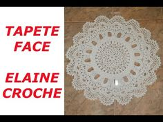 TAPETE FACE EM CROCHE - YouTube