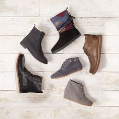 Make every step count this season in TOMS men's and women's boots.