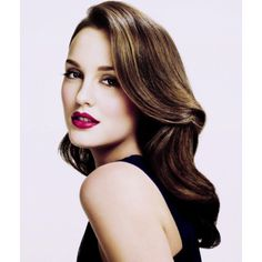 Gorgeous red lips and big soft curls-Leighton Meester