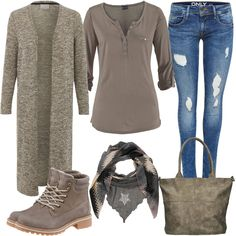 Longcardigan Look by FrauenOutfits