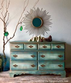 A personal favorite from my Etsy shop https://www.etsy.com/listing/572880336/beautiful-shades-of-green-dresser