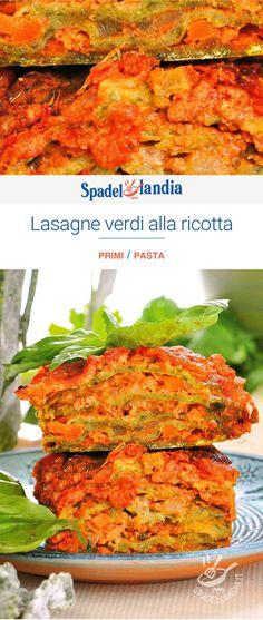 Lasagne verdi alla ricotta Ricotta, Pasta, Salmon Burgers, Larry, Lovers, Ethnic Recipes, Oven, Lasagne, Italian Meals