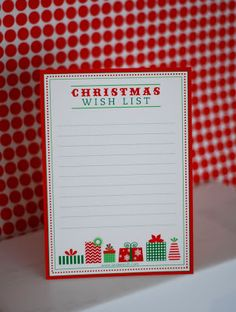 Free Printable: Letter to Santa, Wish List and Gift Tags! - Anders Ruff Custom Designs, LLC