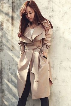 Back Cape One Button Belted Trench Coat