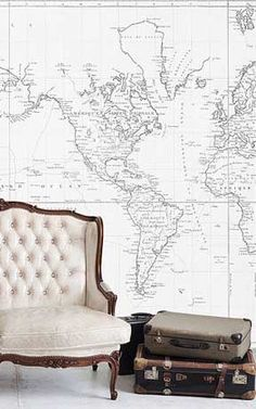 229 best Anewall Decor  A   New   Wall  images on Pinterest in 2018     world map   mural      World Map Wall ArtWorld