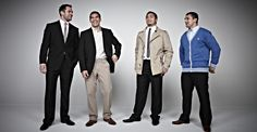The lads from Wigan Warriors RFLC take part in a photoshoot for menswear brand Jacamo.
