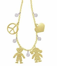 Peace, Love, and Children Charm Necklace