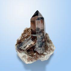 Quartz var.Smoky - Giuv Valley, Tavetsch, Grischun, Switzerland Size: 7.4 × 5.4 × 4.2 cm