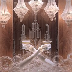 The Great Gatsby (2013) | Gatsby inspired display window at Tiffany & Co.'s flagship in New York City.