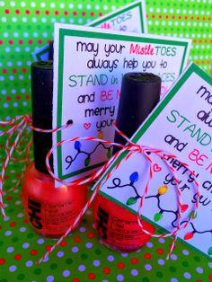 Fingernail polish Mistletoe's printable for YW's Marci Coombs blog