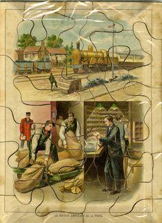 Le service ambulant de la poste Puzzle vers 1910 © L'Adresse Musée de La Poste / La Poste, DR