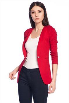 Haftalık Stil Rehberi by Olgun Orkun · Kadın Tekstil - Kırmızı Ceket O&O-5B122014 %60 indirimle 49,99TL ile Trendyol da