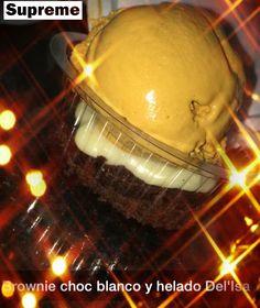 Brownie ➕ Chocolate Blanco  ➕ Helado de Dulce de Leche
