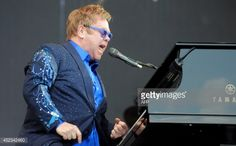 Elton John performs during the 23rd edition of the Festival des Vieilles Charrues in Carhaix-Plouguer, western of France, on July 18, 2014