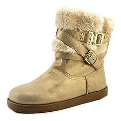 G By Guess Azzie Women US Gold Winter Boot. The style name is Azzie. The style number is AZZIE-GOLDMUL. Measurements: Shaft measures Circumference measures and heel. Comfortable Boots, Snow Boots Women, Mid Calf Boots, Partner, Ugg Boots, Uggs, Booty, Heels, Shopping