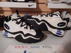 Nike Air Diamond Thief GS White Black 1990s VINTAGE 153284 101 Youth Size 3 og #Nike #CasualTrainers
