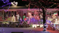 Canadian Houses Decorated With Colourful Christmas Lights For The ...