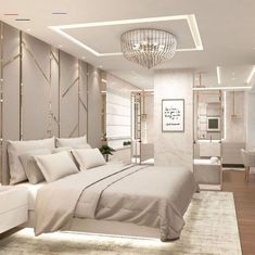 Bedroom design ideas for your home ! Home Room Design, Beautiful Bedrooms, Bedroom Makeover, Home Bedroom, Bedroom False Ceiling Design, Luxurious Bedrooms, Modern Bedroom, Modern Luxury Bedroom, Luxury Bedroom Master
